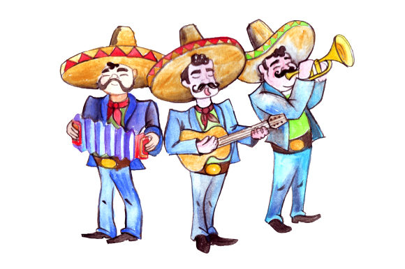 Mariachi Band Mexico Craft Cut File By Creative Fabrica Crafts