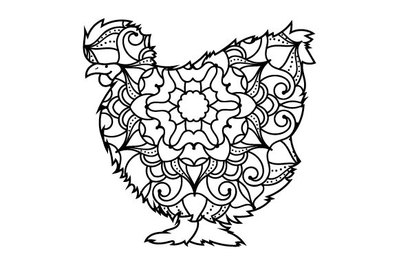 Download Free Chicken Mandala Svg Cut File By Creative Fabrica Crafts for Cricut Explore, Silhouette and other cutting machines.