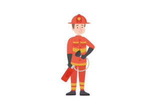 Firefighter Fire & Police Craft Cut File By Creative Fabrica Crafts