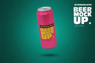 Print on Demand: 16oz Levitating Can Clean Mockup Graphic Product Mockups By SmartDesigns