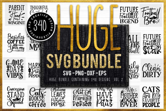 Download Free 340 Huge Bundle Graphic By Designfarm Creative Fabrica for Cricut Explore, Silhouette and other cutting machines.