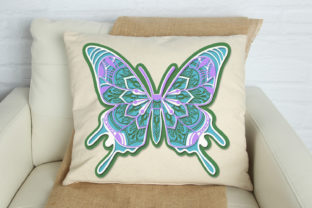 Print on Demand: 3D Zentangle Butterfly Graphic 3D SVG By tatiana.cociorva 2