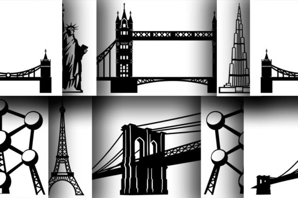 Download Free 1 Eiffel Tower Png Designs Graphics for Cricut Explore, Silhouette and other cutting machines.