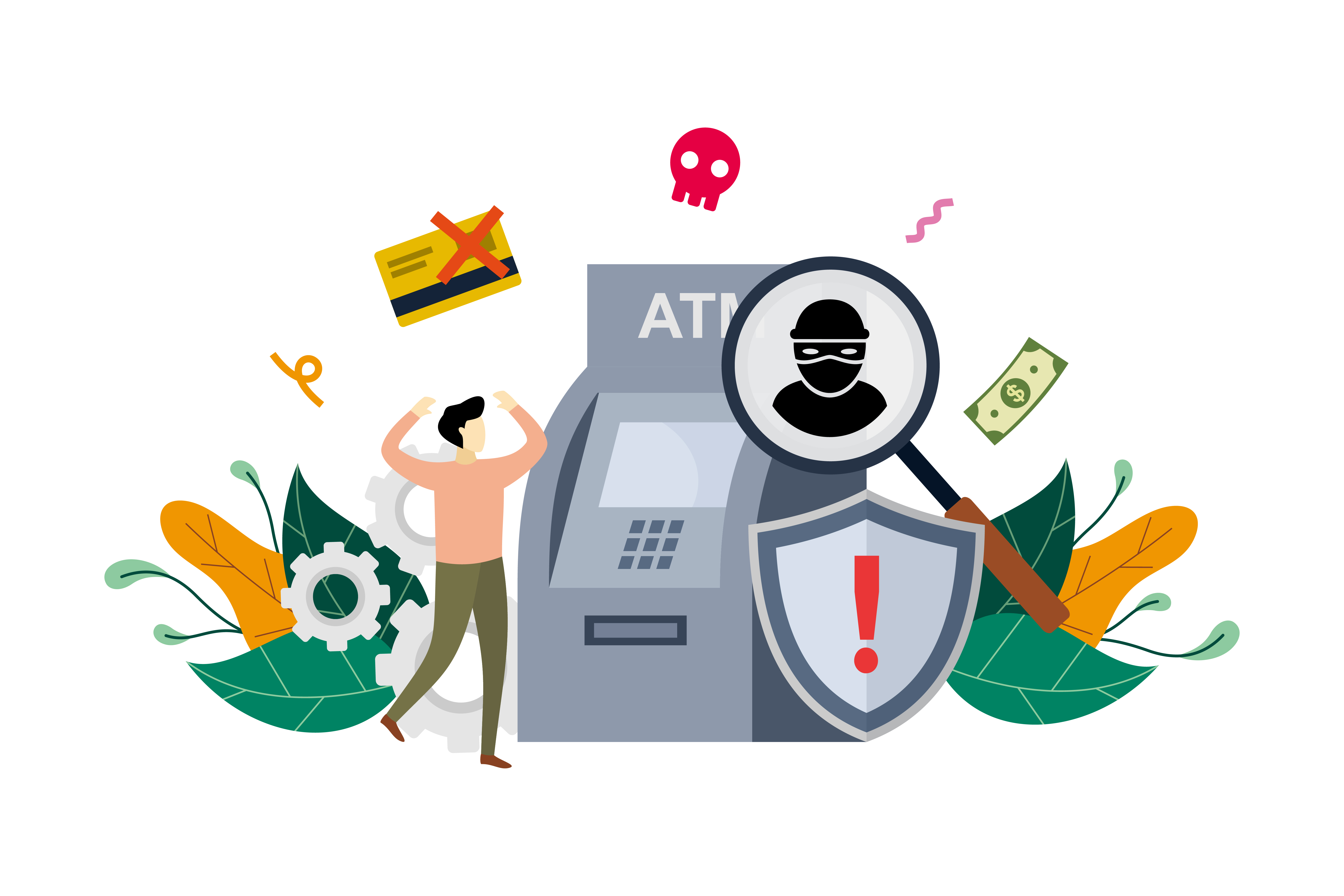 Download Free Atm Cyber Crime Design Flat Illustration Graphic By Lartestudio Creative Fabrica SVG Cut Files
