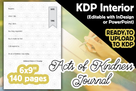 Acts of Kindness Journal | KDP Interior Graphic KDP Interiors By Laura Burke