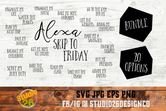 Download Free Alexa Bundle Of Bundles Graphic By Studio 26 Design Co for Cricut Explore, Silhouette and other cutting machines.