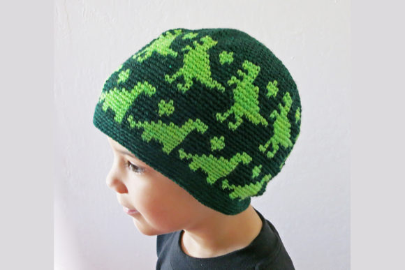 All Ages Dino Beanie Crochet Pattern Graphic Crochet Patterns By Knit and Crochet Ever After