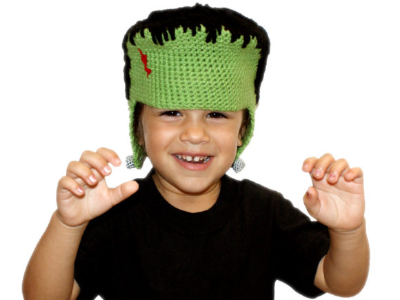 All Ages Franken Beanie Crochet Pattern Graphic Crochet Patterns By Knit and Crochet Ever After