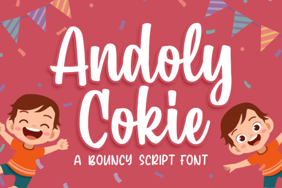 Print on Demand: Andoly Cokie Script & Handwritten Font By Blankids Studio