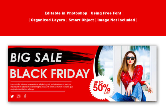 Download Free Banner Big Sale Black Friday Graphic By Ant Project Template for Cricut Explore, Silhouette and other cutting machines.