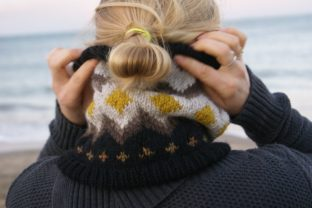 Bitterroot Cowl Graphic Knitting Patterns By BlackCatKnitCo