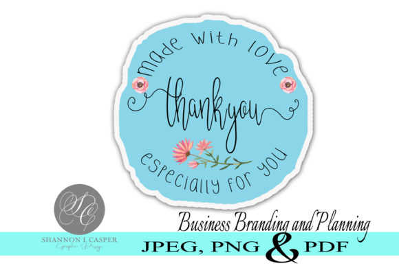 Download Free Blue Wreath Thank You Print And Cut Graphic By Shannon Casper for Cricut Explore, Silhouette and other cutting machines.