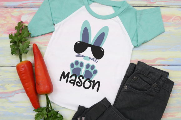 Download Free Boy Easter Bunny With Sunglasses Graphic By Morgan Day Designs for Cricut Explore, Silhouette and other cutting machines.