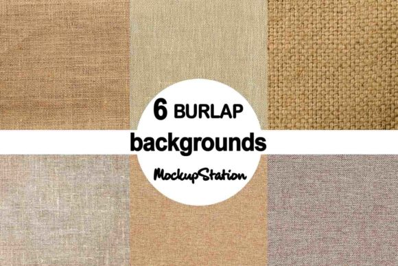 Print on Demand: Burlap Linen Background Texture Bundle Graphic Backgrounds By Mockup Station