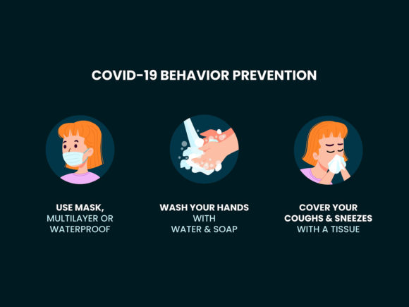 Download Free Covid 19 Behavior Prevention Graphic By Farooqa Official for Cricut Explore, Silhouette and other cutting machines.