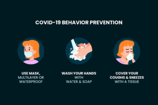 Download Free Covid 19 Behavior Prevention Grafico Por Farooqa Official for Cricut Explore, Silhouette and other cutting machines.