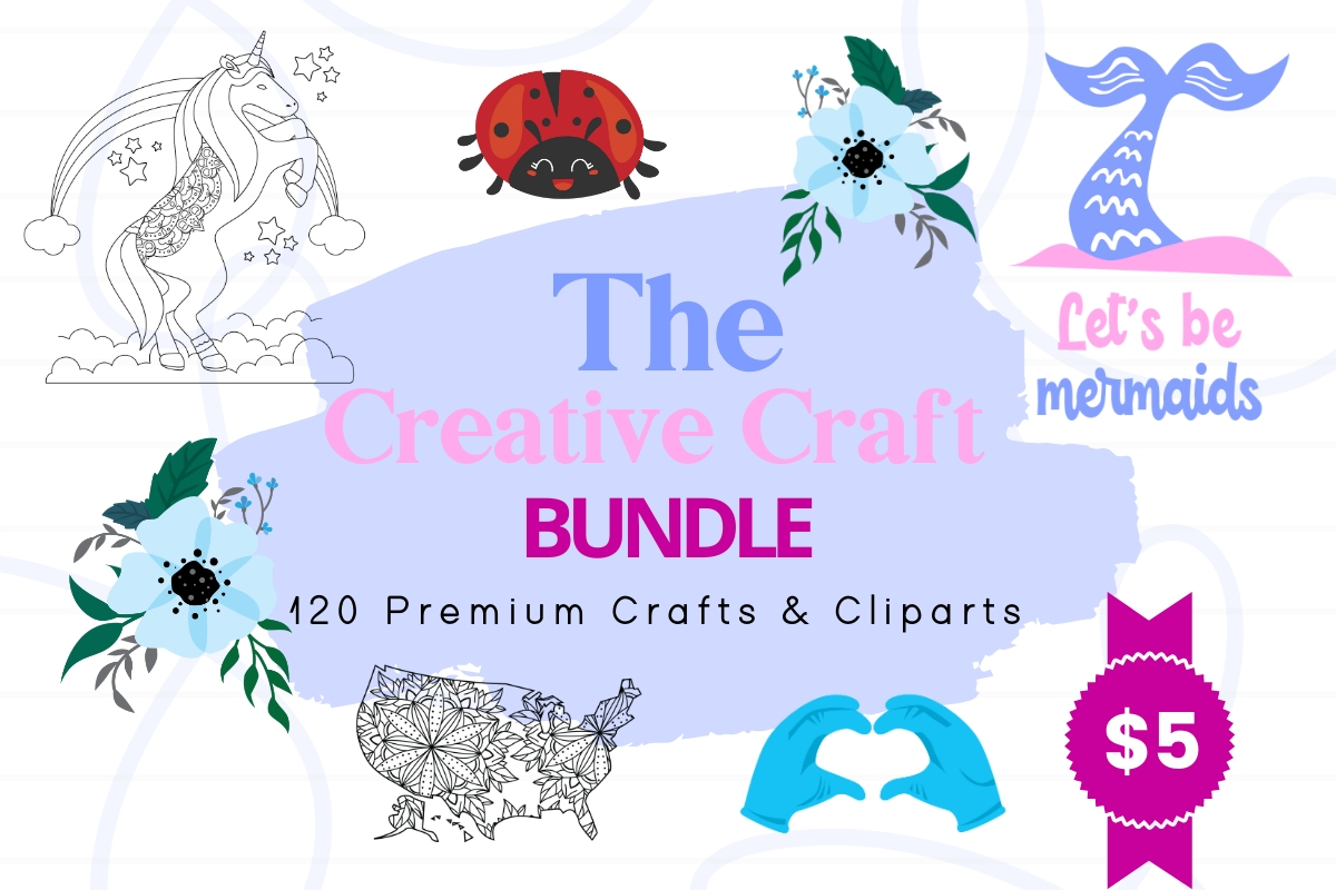 Download Free The Creative Craft Bundle Bundle Creative Fabrica for Cricut Explore, Silhouette and other cutting machines.