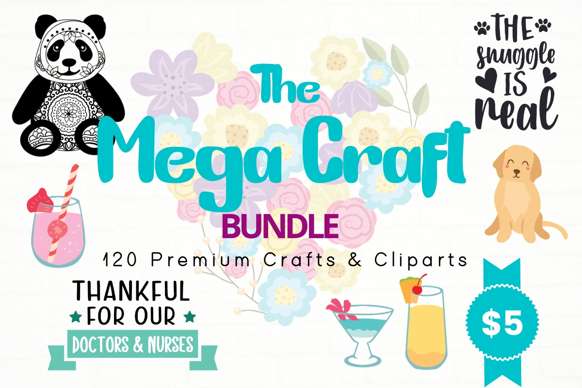 Download Free The Mega Craft Bundle Bundle Creative Fabrica for Cricut Explore, Silhouette and other cutting machines.