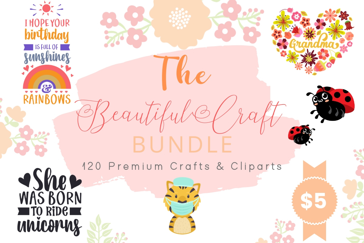 Download Free The Beautiful Craft Bundle Bundle Creative Fabrica for Cricut Explore, Silhouette and other cutting machines.