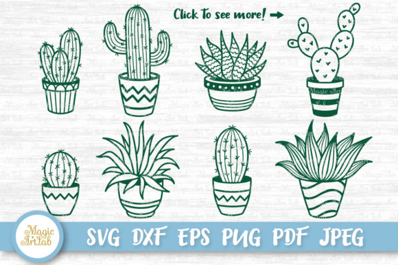 Download Free Cactus And Succulent Graphic By Magicartlab Creative Fabrica SVG Cut Files