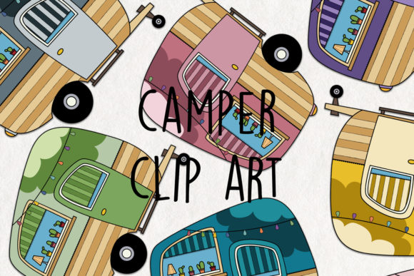 Download Free Camper Clipart Graphic By Notturnoclipart Creative Fabrica for Cricut Explore, Silhouette and other cutting machines.