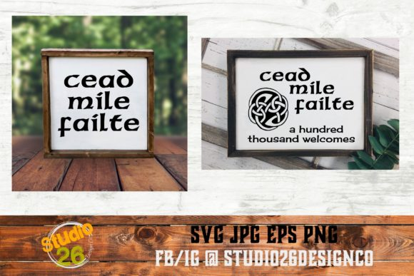 Download Free Celtic Welcome Bundle Graphic By Studio 26 Design Co for Cricut Explore, Silhouette and other cutting machines.