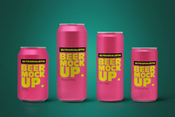 Print on Demand: Clean Beer Can Pack Mockup Graphic Product Mockups By SmartDesigns