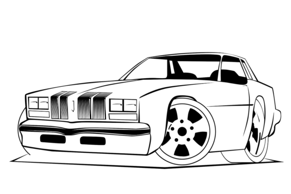Download Free Color Your Own Cars Flames Grafico Por Jeffbensch Creative for Cricut Explore, Silhouette and other cutting machines.