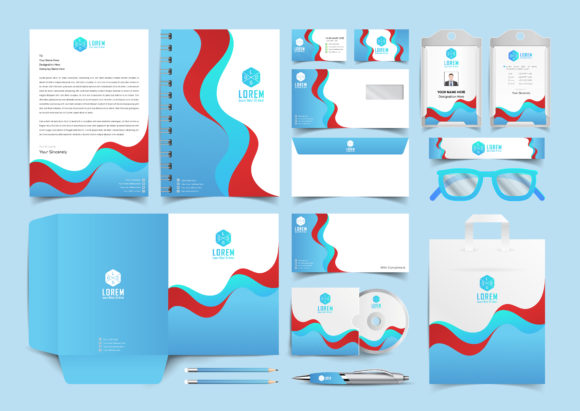 Download Free Corporate Identity Stationary Branding Graphic By Ju Design for Cricut Explore, Silhouette and other cutting machines.