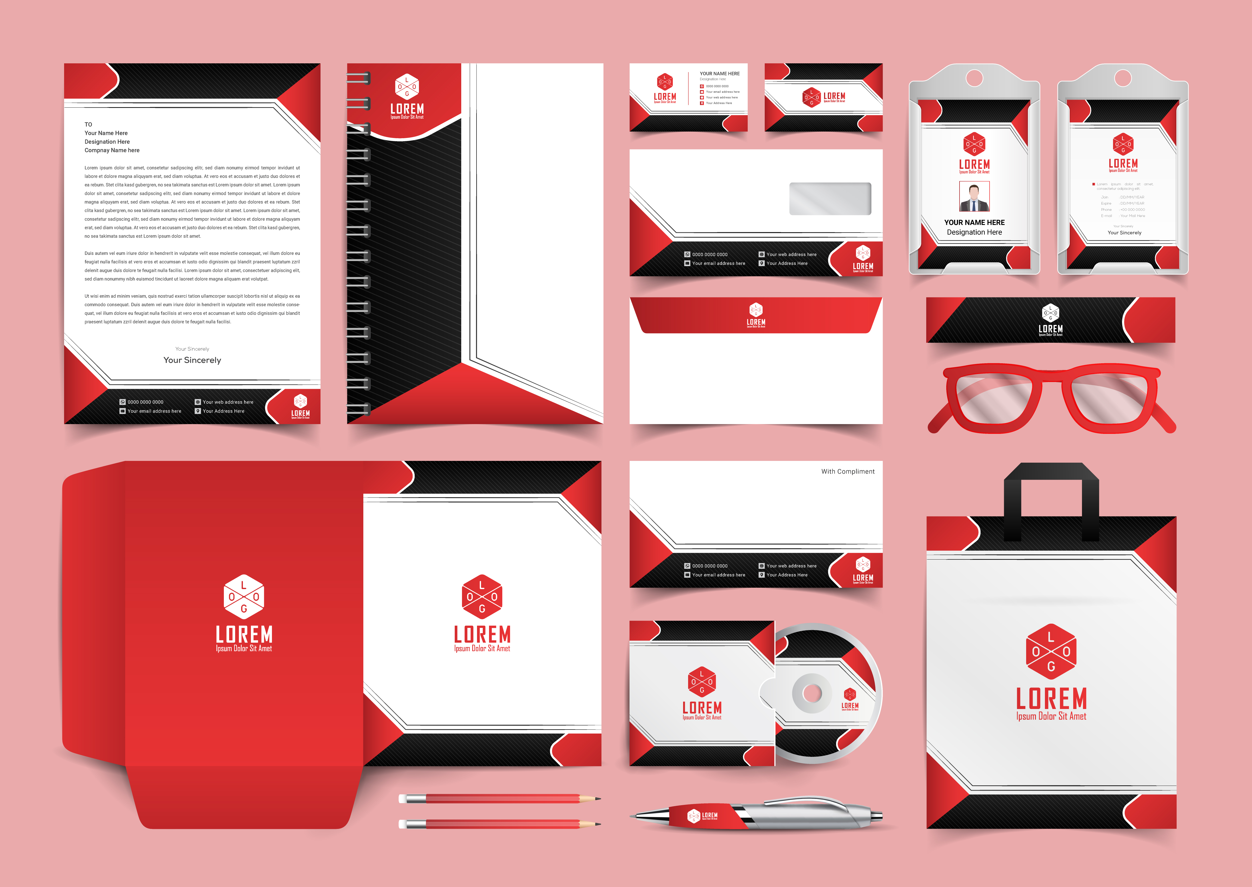 Download Free Corporate Stationery Template Design Grafico Por Ju Design for Cricut Explore, Silhouette and other cutting machines.