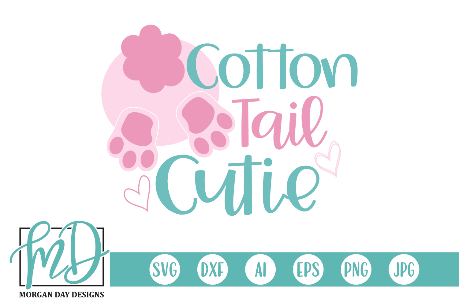 Download Free Cotton Tail Cutie Graphic By Morgan Day Designs Creative Fabrica for Cricut Explore, Silhouette and other cutting machines.