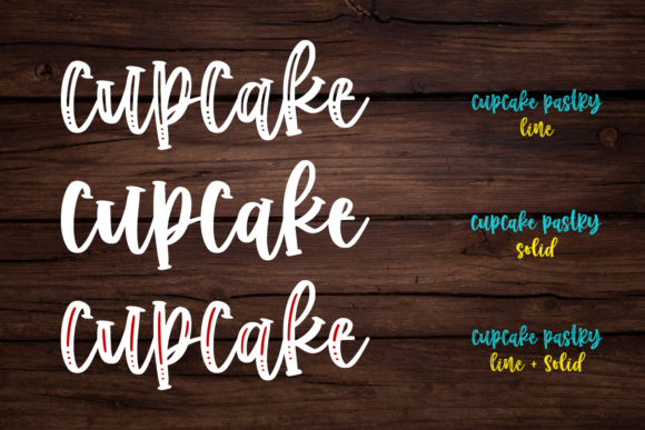 Print on Demand: Cupcake Pastry Script & Handwritten Font By Abodaniel - Image 12