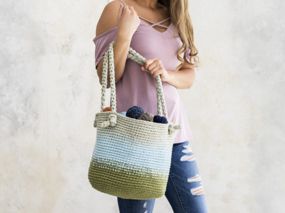 Cutie Utility Bucket Bag Crochet Pattern Graphic Crochet Patterns By Knit and Crochet Ever After - Image 1