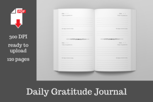 Print on Demand: Daily Gratitude Journal   6x9 Inches Graphic KDP Interiors By KDP Template Designs