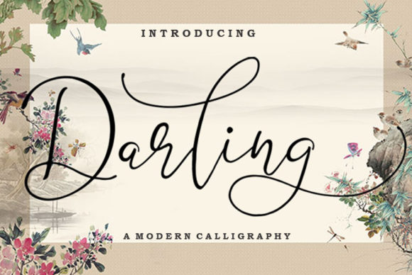 Print on Demand: Darling Script & Handwritten Font By FontCloud