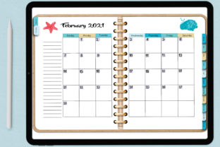 Dated Blank Digital Planner Easy to Use! Graphic Print Templates By AM Digital Designs