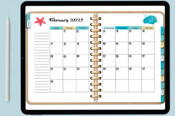 Print on Demand: Dated Blank Digital Planner Easy to Use! Graphic Print Templates By AM Digital Designs
