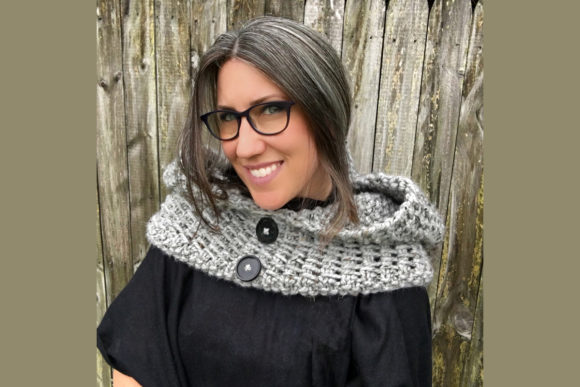 Dawn Hooded Cowl Knit Pattern Graphic