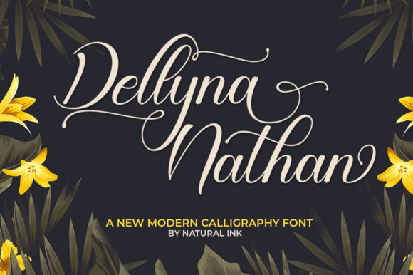 Print on Demand: Dellyna Nathan Script & Handwritten Font By Natural Ink