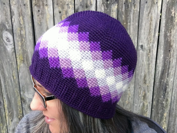 Diamonds Beanie Crochet Pattern Graphic