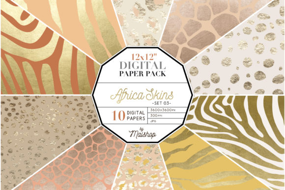 Print on Demand: Digital Paper Pack Africa Skins Set 01 Graphic Patterns By Maishop