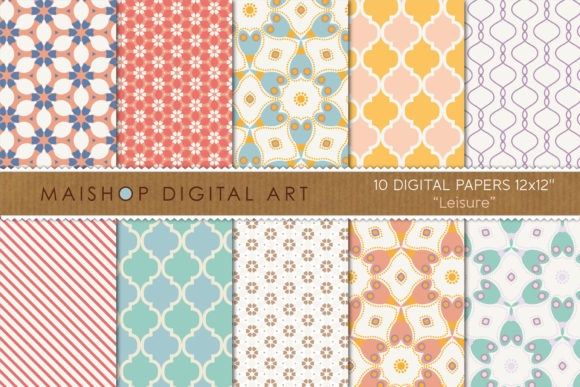 Print on Demand: Digital Paper Pack Leisure Set 01 Graphic Patterns By Maishop