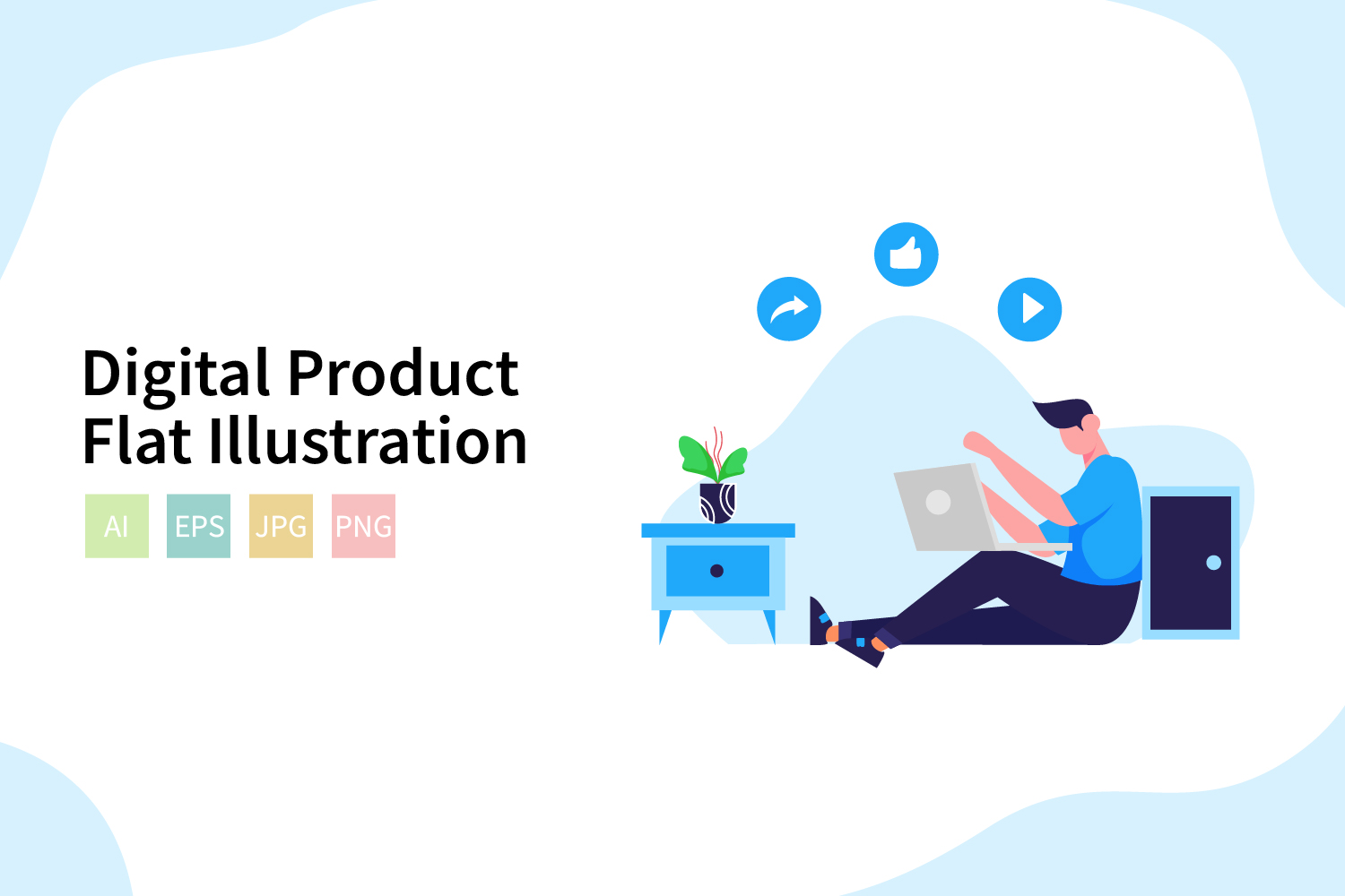 Download Free Digital Product Flat Vector Illustration Graphic By Sixtwenty for Cricut Explore, Silhouette and other cutting machines.