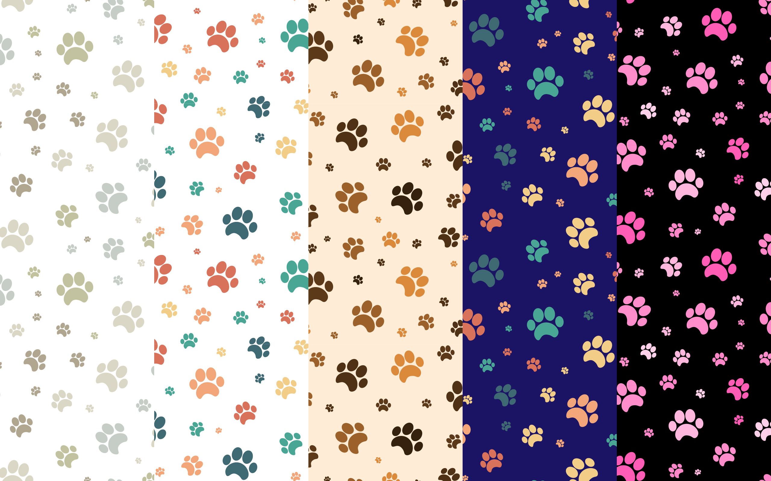 Download Free Dog Pattern Animal Dog Paws Seamless Graphic By Neat for Cricut Explore, Silhouette and other cutting machines.