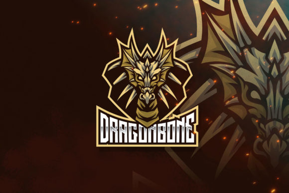 Download Free Dragon Bone Esport Logo Template Graphic By Stringlabs for Cricut Explore, Silhouette and other cutting machines.