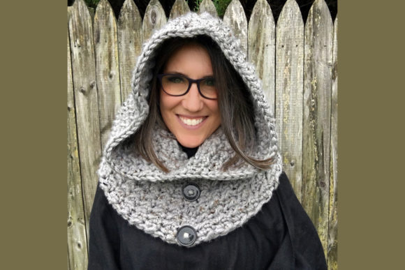 Dusk Hooded Cowl Crochet Pattern Graphic Crochet Patterns By Knit and Crochet Ever After - Image 1