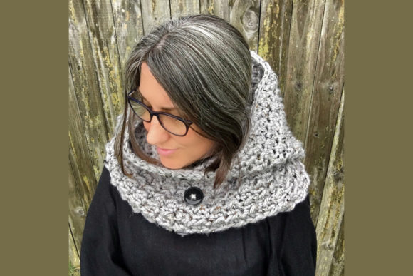 Dusk Hooded Cowl Crochet Pattern Graphic Crochet Patterns By Knit and Crochet Ever After - Image 3