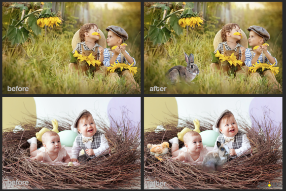 Easter Backdrop Photoshop Overlay Spring Graphic Actions & Presets By 2SUNS - Image 4