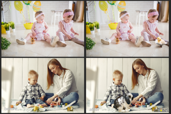 Easter Backdrop Photoshop Overlay Spring Graphic Actions & Presets By 2SUNS - Image 5