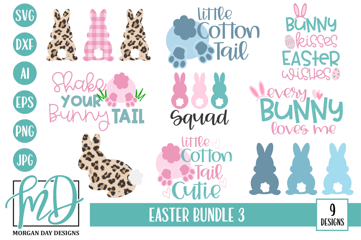 Download Free Easter Bundle Graphic By Morgan Day Designs Creative Fabrica for Cricut Explore, Silhouette and other cutting machines.